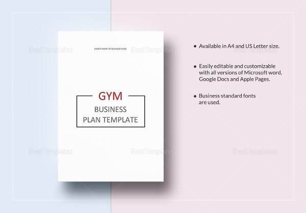 Gym Business Plan Template Free Word Excel Pdf