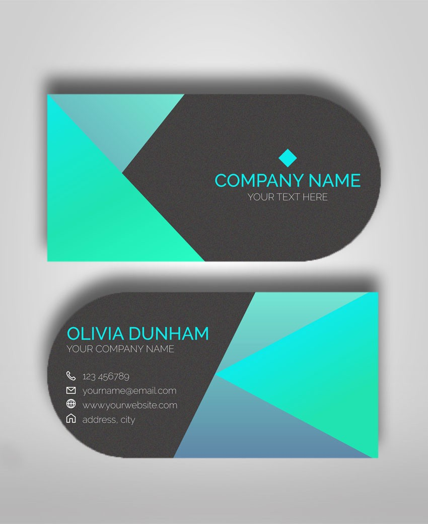Circle Business Card Template