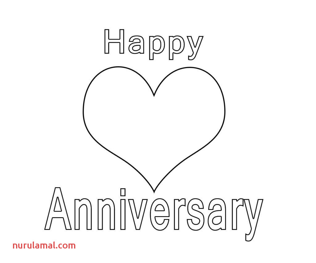 Happy Anniversary Coloring Page