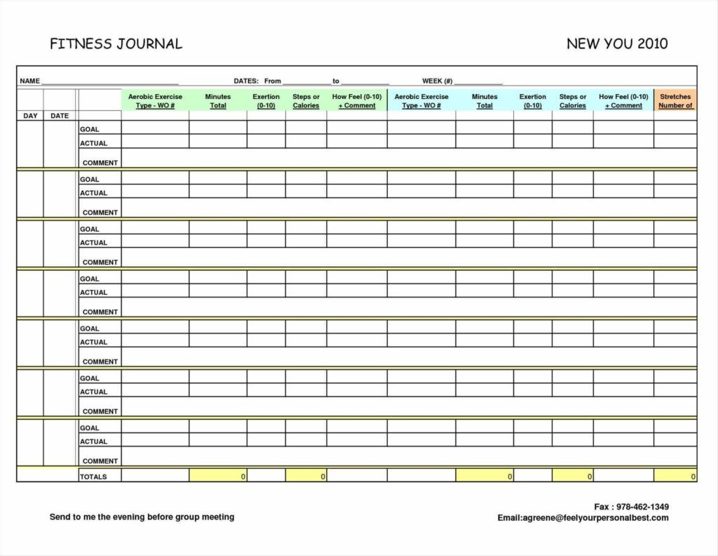 Health Journal Template Heart Rate Zones