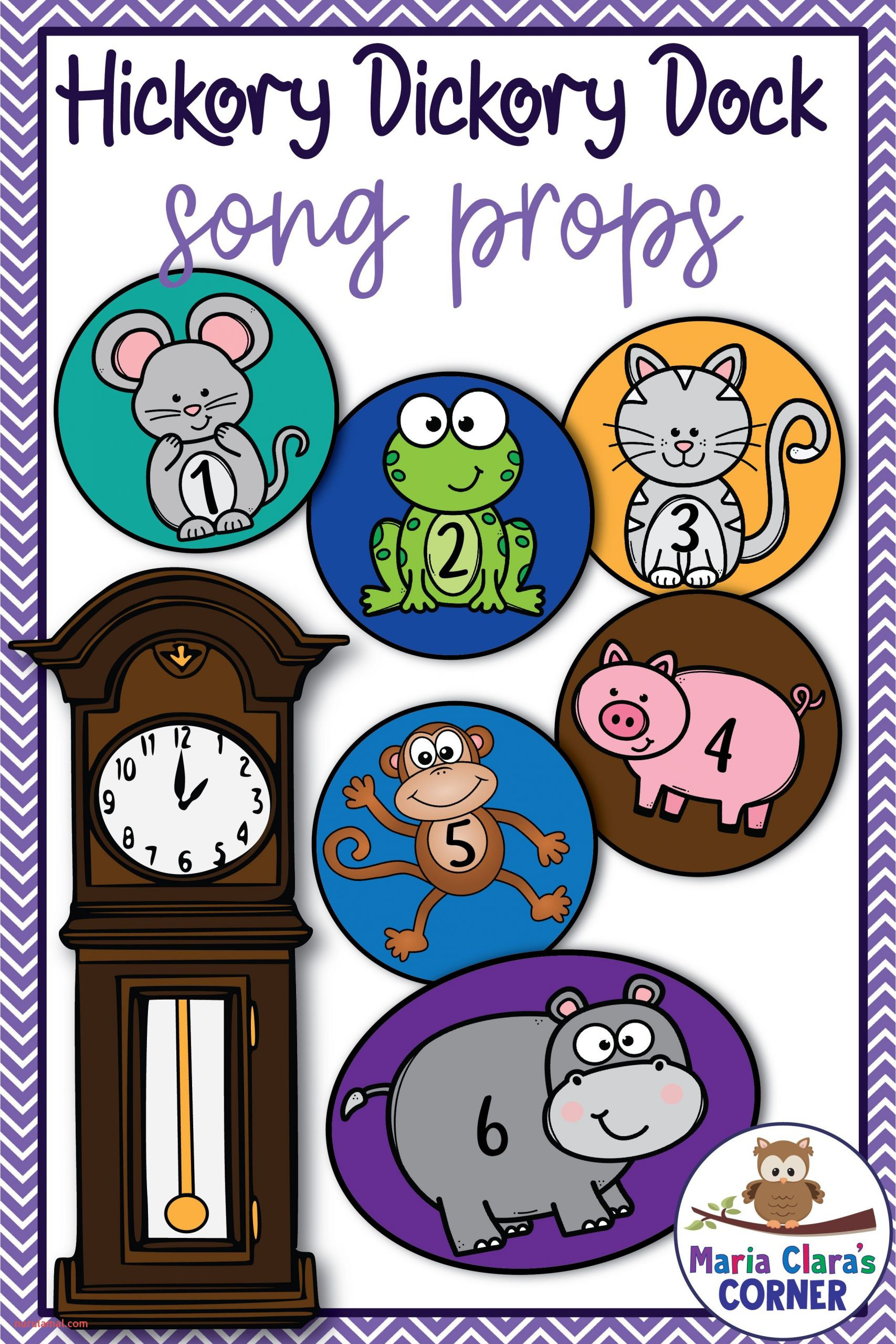 Hickory Dickory Dock Nursery Rhyme song Props