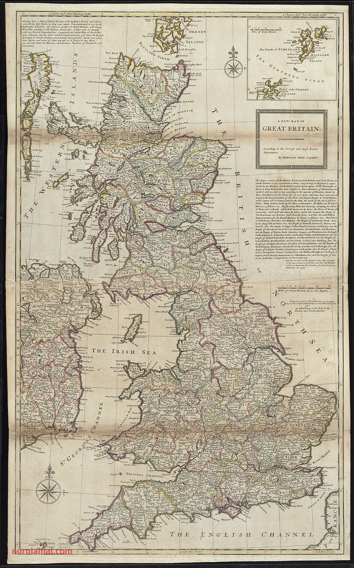 1200px A new map of Great Britain according to the newest and most exact observations %