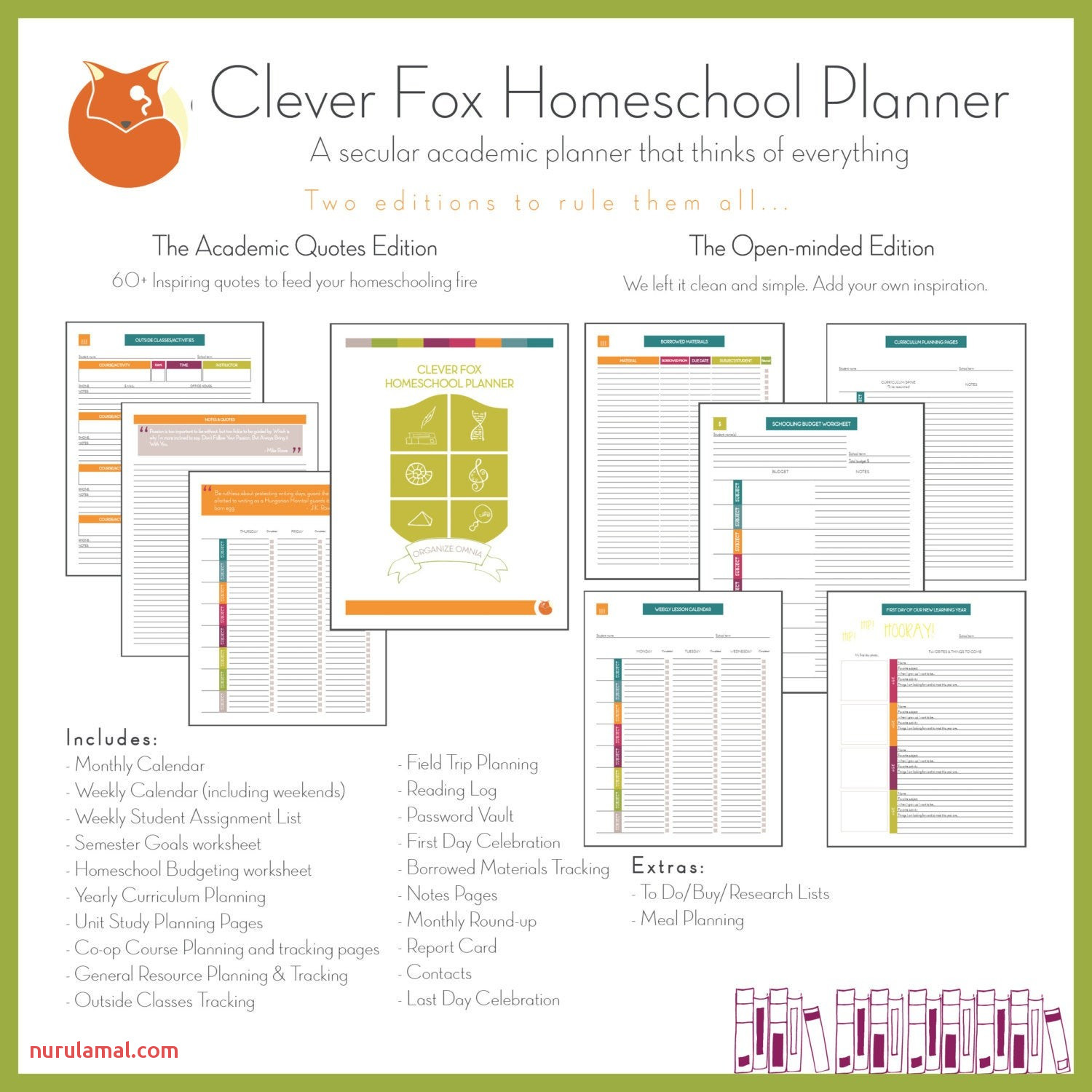 clever fox homeschool planner 2017 2018 pact quotes edition elegant from homeschool report card template form of homeschool report card template