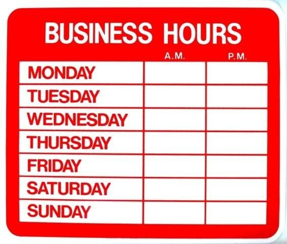 Hours Of Operation Template Images Hours Of Operation