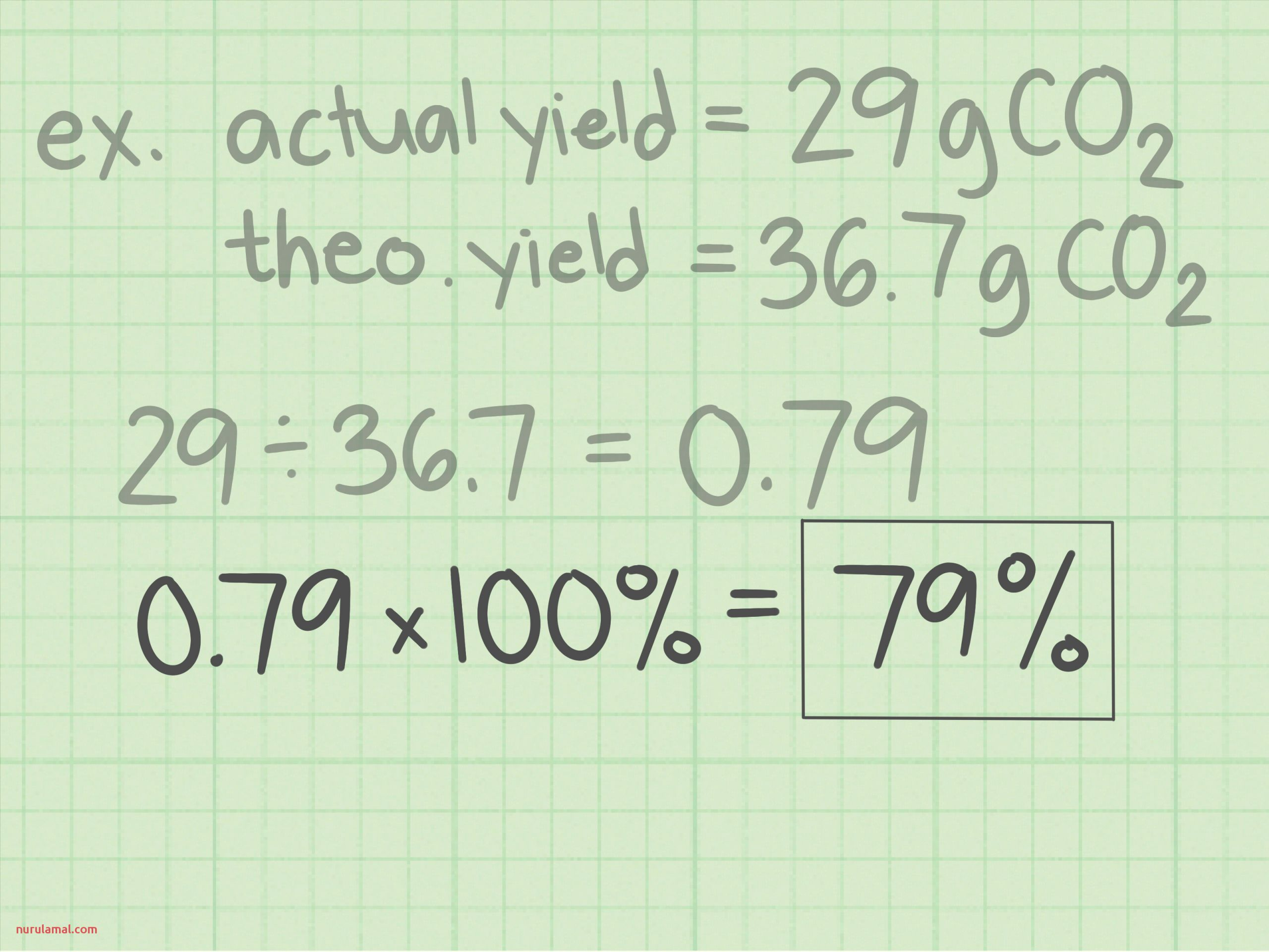 Calculate Percent Yield in Chemistry Step 15 Version 2