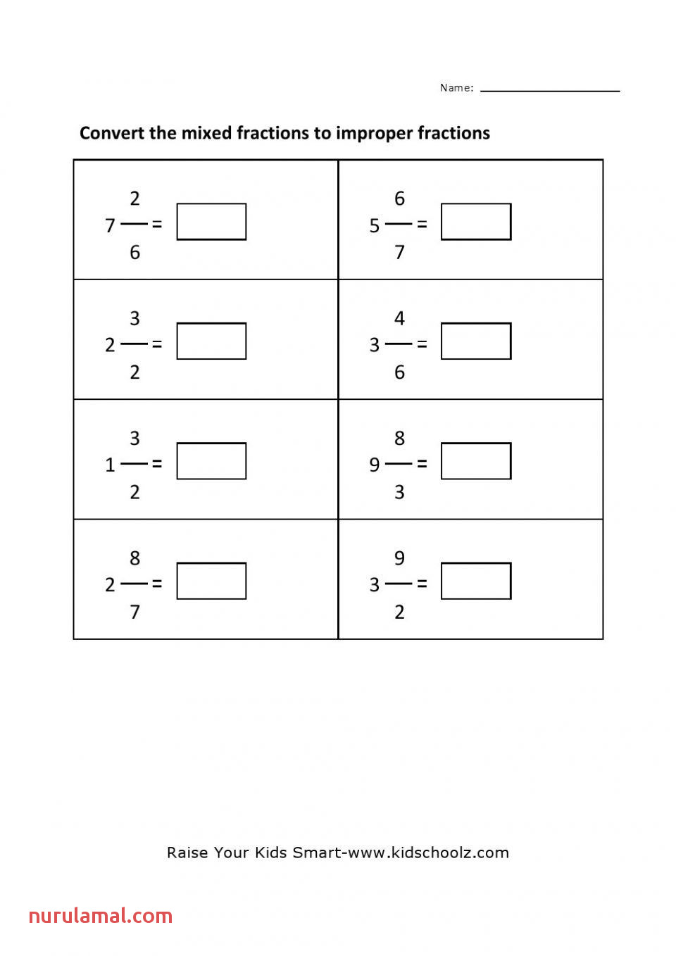 How to Convert Improper Fractions to Mixed Numbers Worksheet
