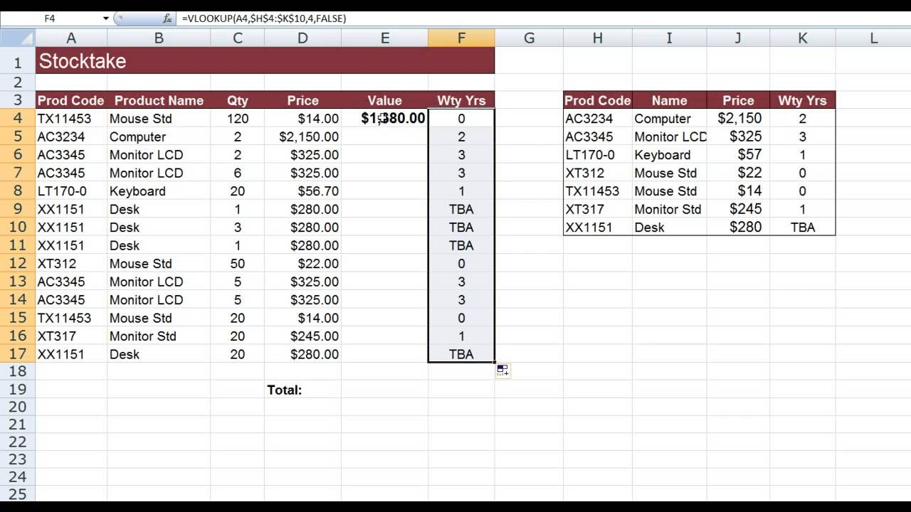 How To Use Vlookup In Excel And With