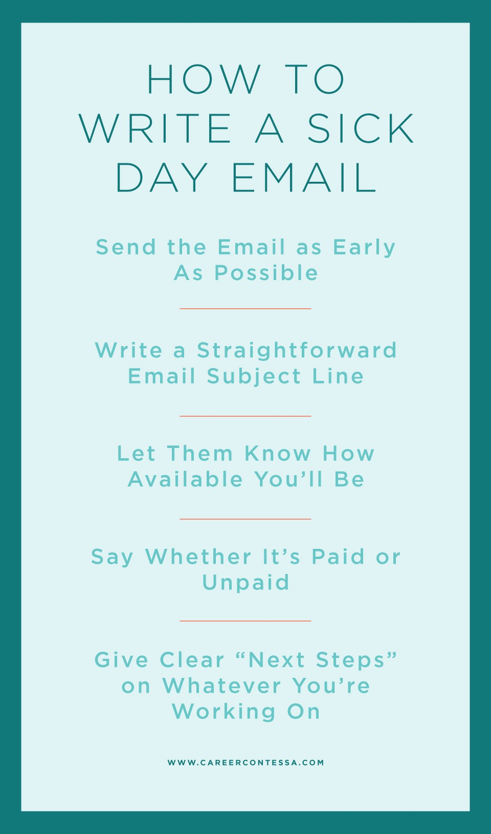 Sick Email Template