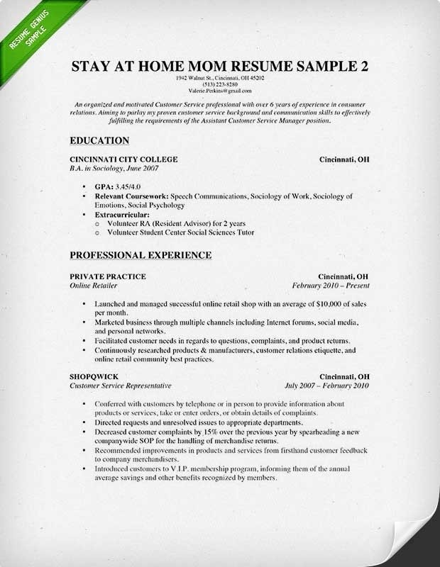 How To Write Work Experience In Resume