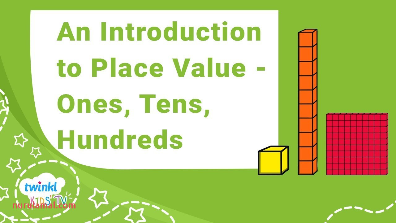 Hundreds Tens and Es Place Value Grid Display Poster