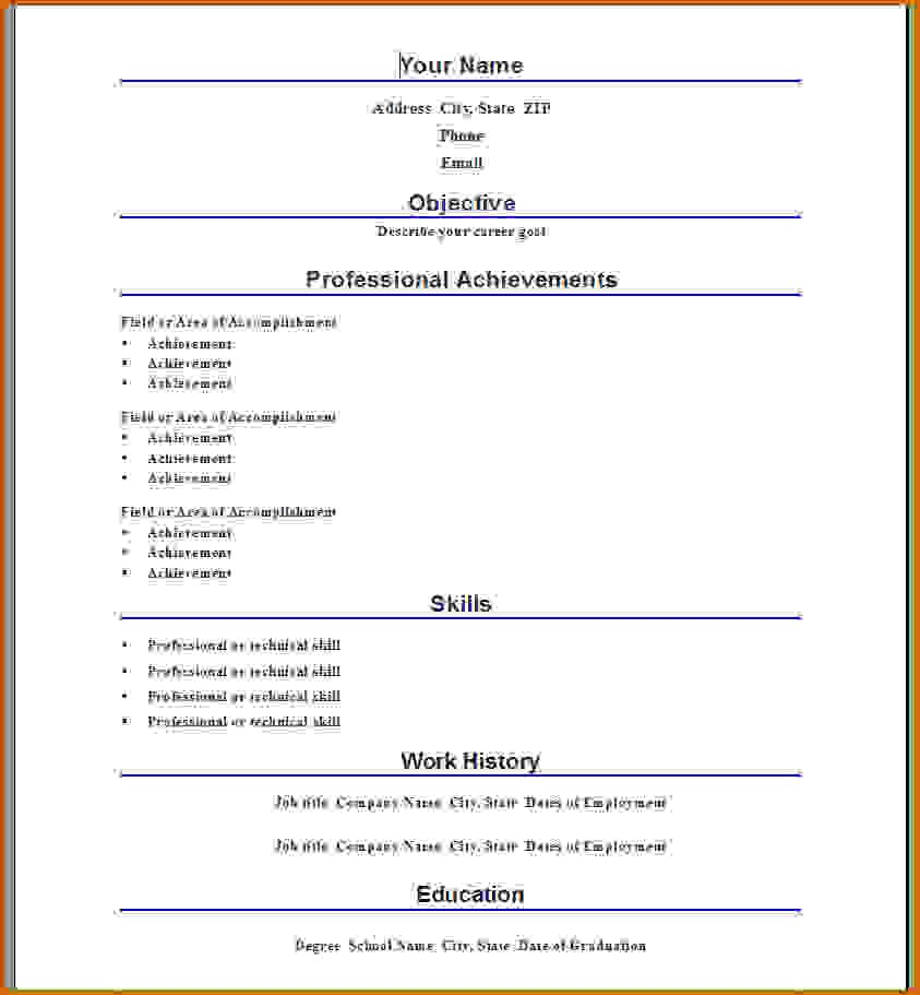 Hybrid Resume Template Word Lease Template