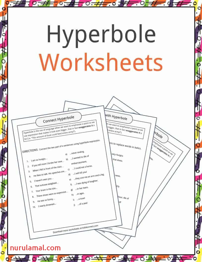 Hyperbole Examples Definition & Worksheets