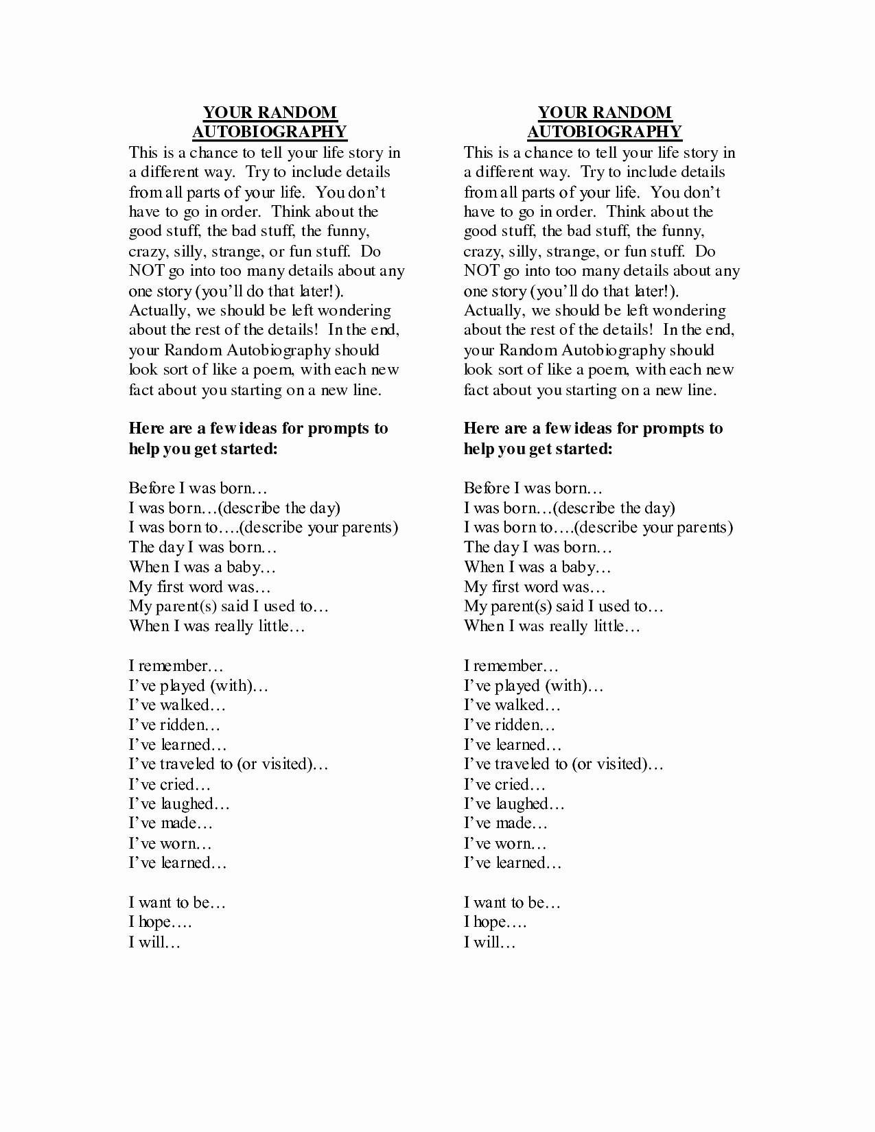 I Am Poem Template Pdf Elegant Blog And Provided You With