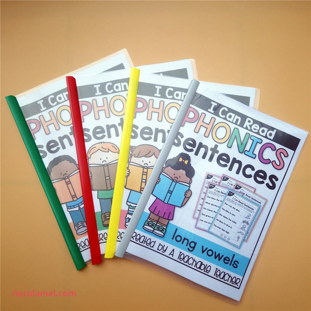 I Can Read Phonics Sentences Workbook Passages Activity Homework Learning Worksheet Classroom Teaching Aids Educational toys for Children
