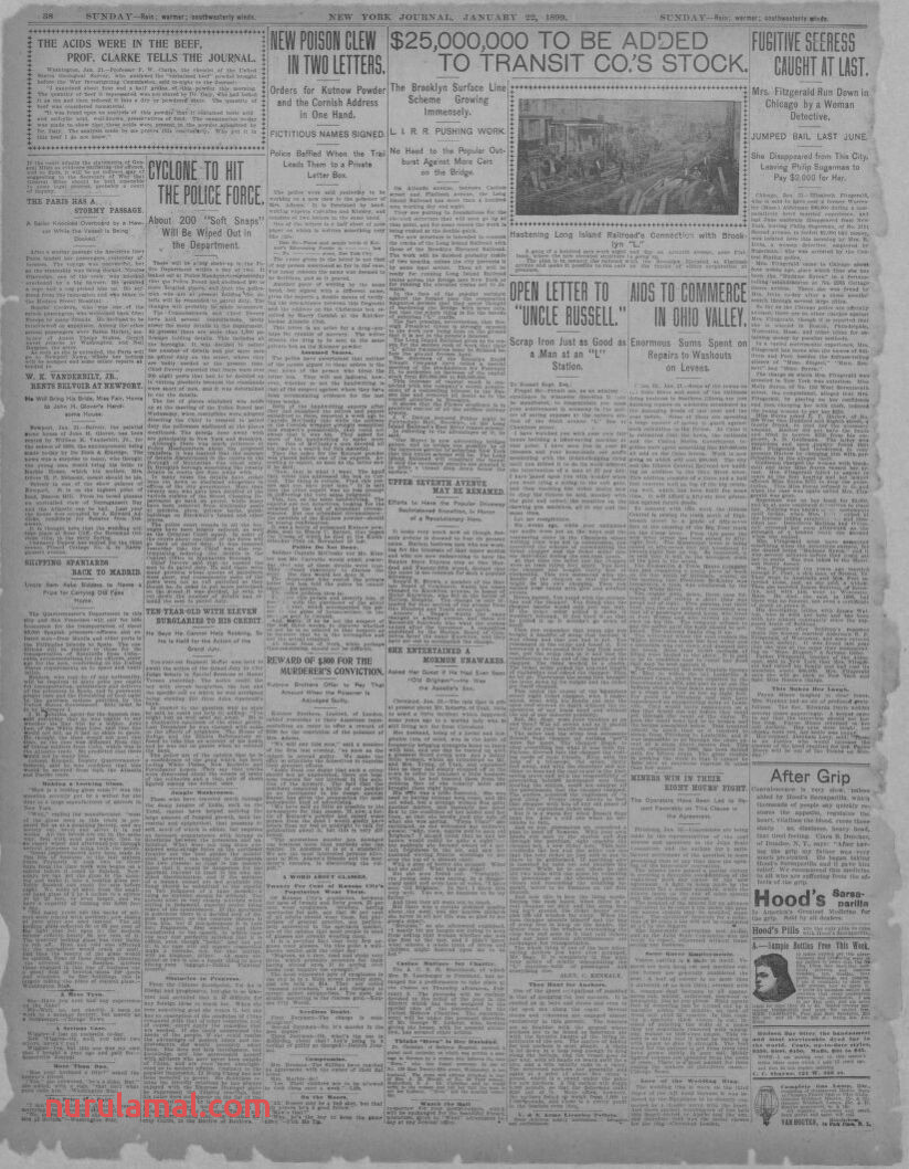 Image 26 Of New York Journal and Advertiser New York [n Y