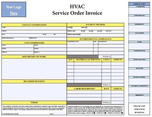Images About Hvac Invoice Templates On Pinterest