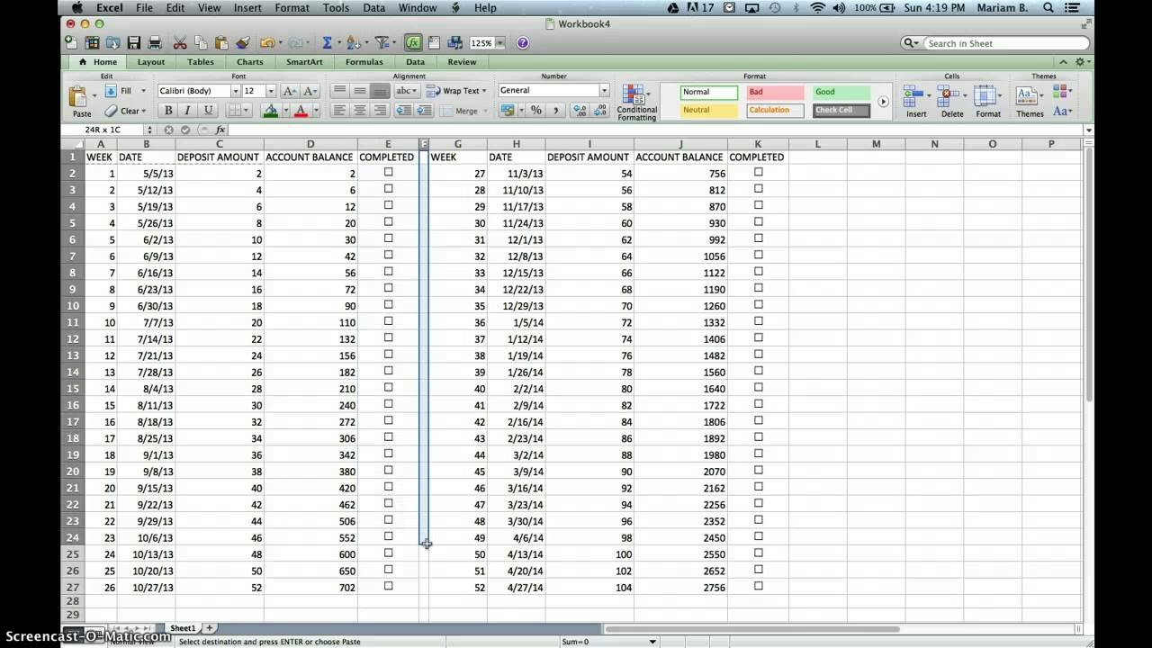 Images Of Week List Template Excel Canbum.net