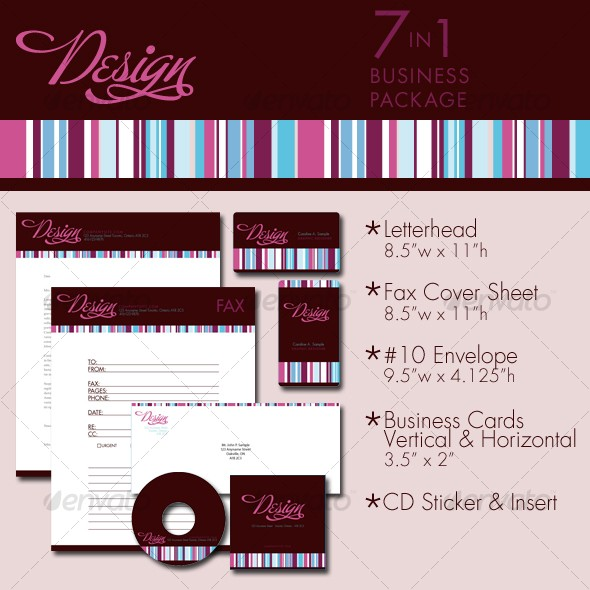 In Design Stripe Business Package Templates Graphicriver