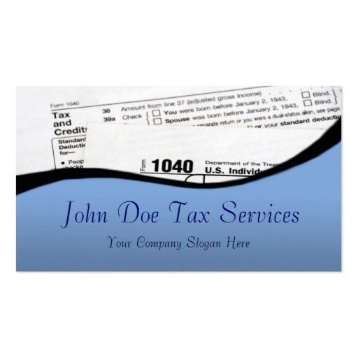 Income Tax Business Card Templates Tax Preparer Business