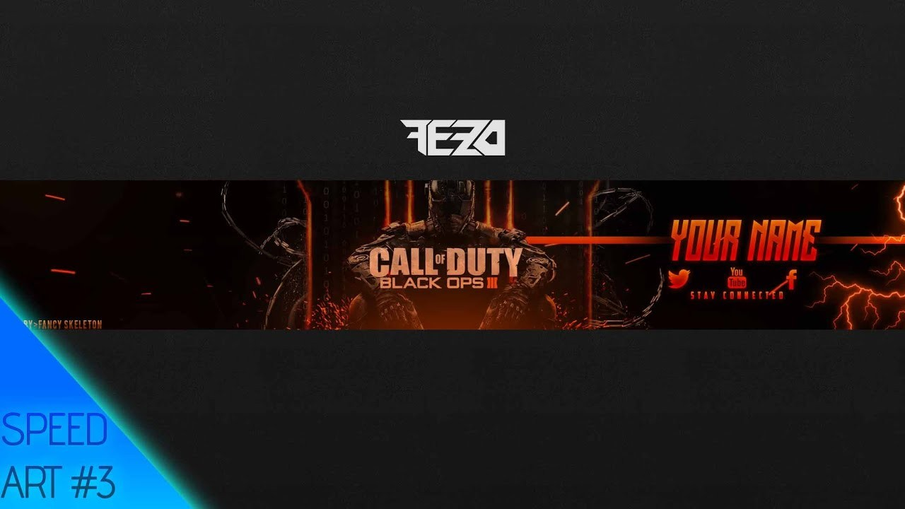 Insane Black Ops Youtube Channel Art Banner Template