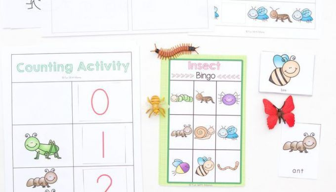 Insects Bugs Printable Activity Pack for Preschool Pre K