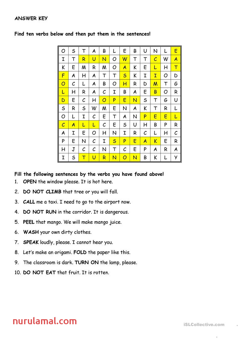 instructions and prohibitions worksheet fun activities games wordsearches 2