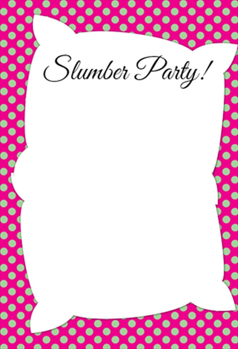 Invitation Template For Slumber Party Invitations Online