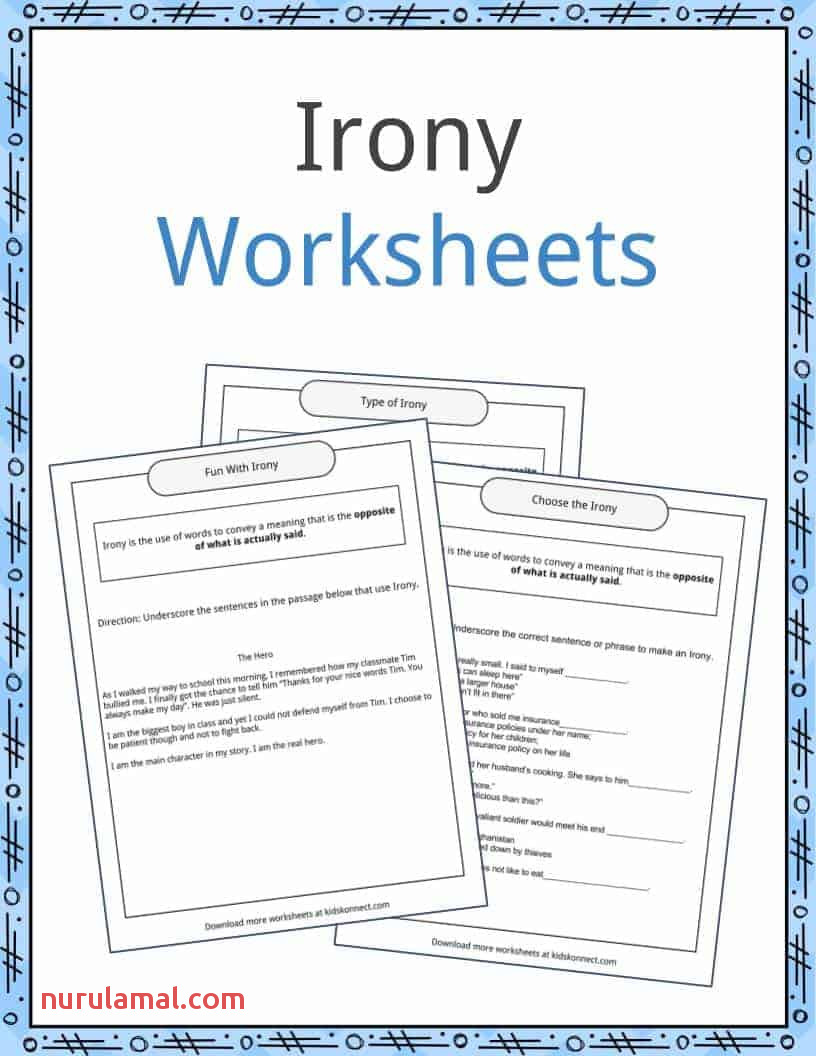 Irony Examples Definition and Worksheets