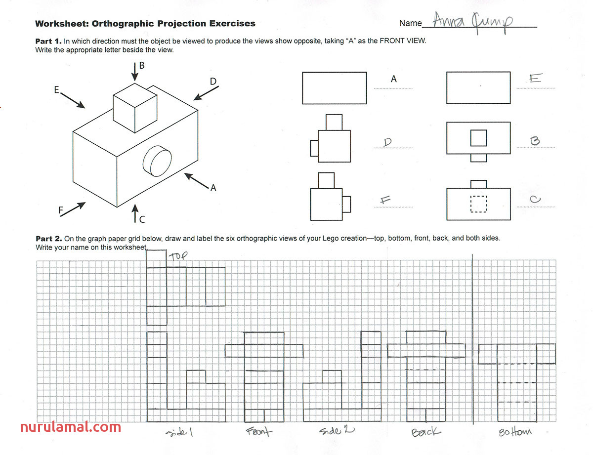 isometric and orthographic drawing worksheets 27