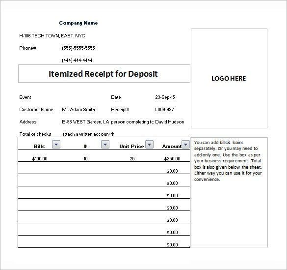 Itemized Invoice Template To Create A Professional Looking