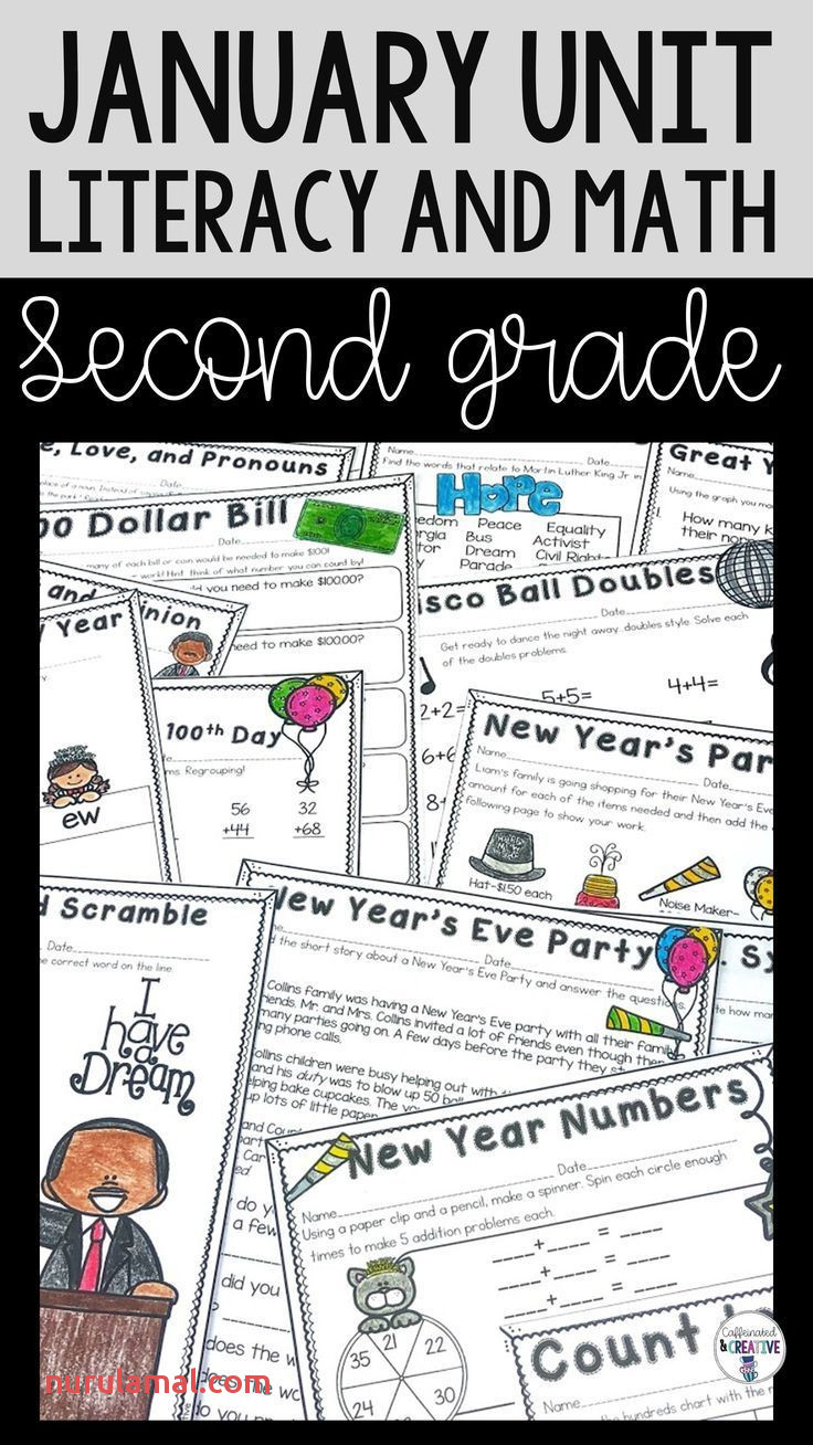 January Literacy and Math Unit for Second Grade