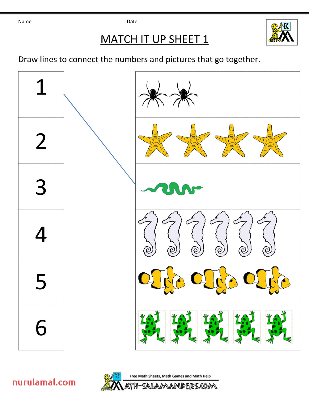 Kids S Math Kindergarten Matching for Letter Objects