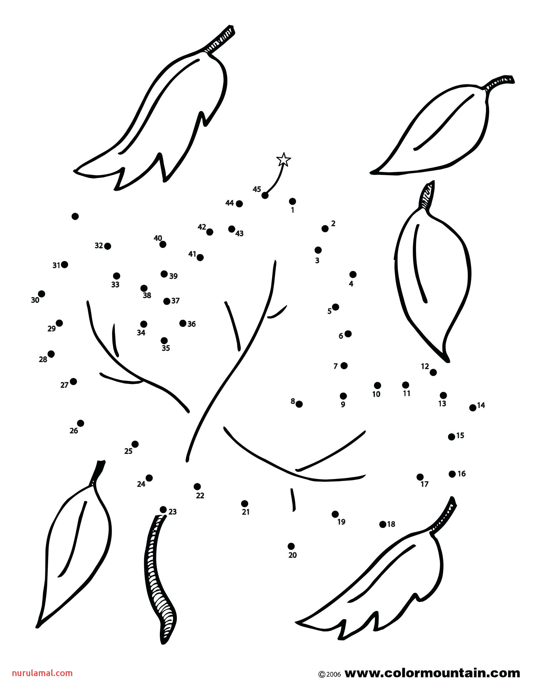 kids worksheets able sheets for preschoolers coloring pages free of leaf fall leaves dot colouring toddlers activity