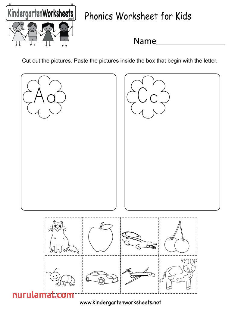 Kids Worksheets area Kindergarten Phonics for