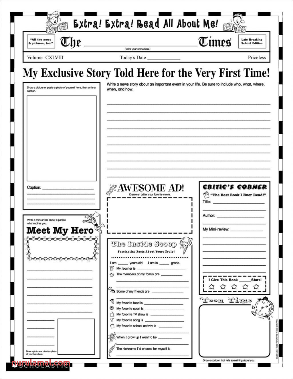 Kids Worksheets Back to School 2nd Grade Print Free for
