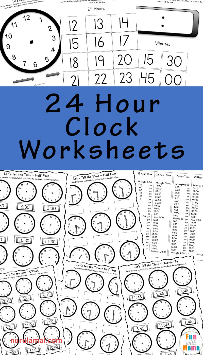 kids worksheets telling time for