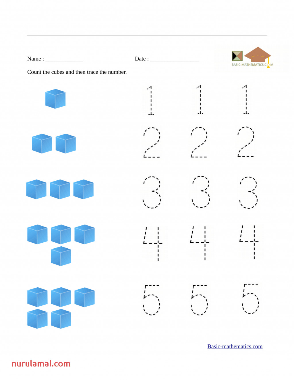 Kindergarten Tutoring Worksheets Preschool Math