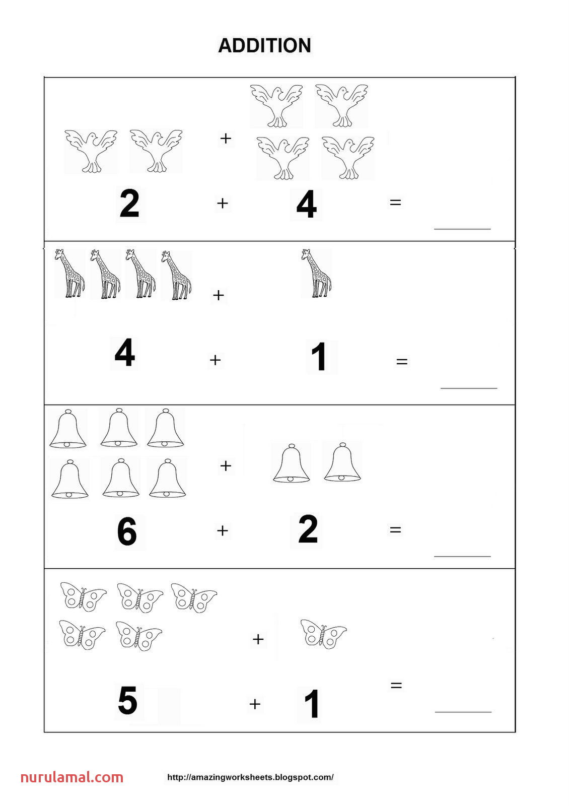 Kindergarten Worksheet Counters