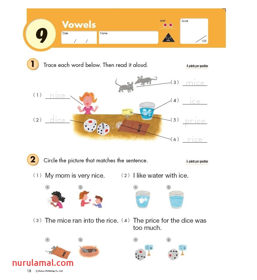 kumon publishing grade reading picture worksheets for