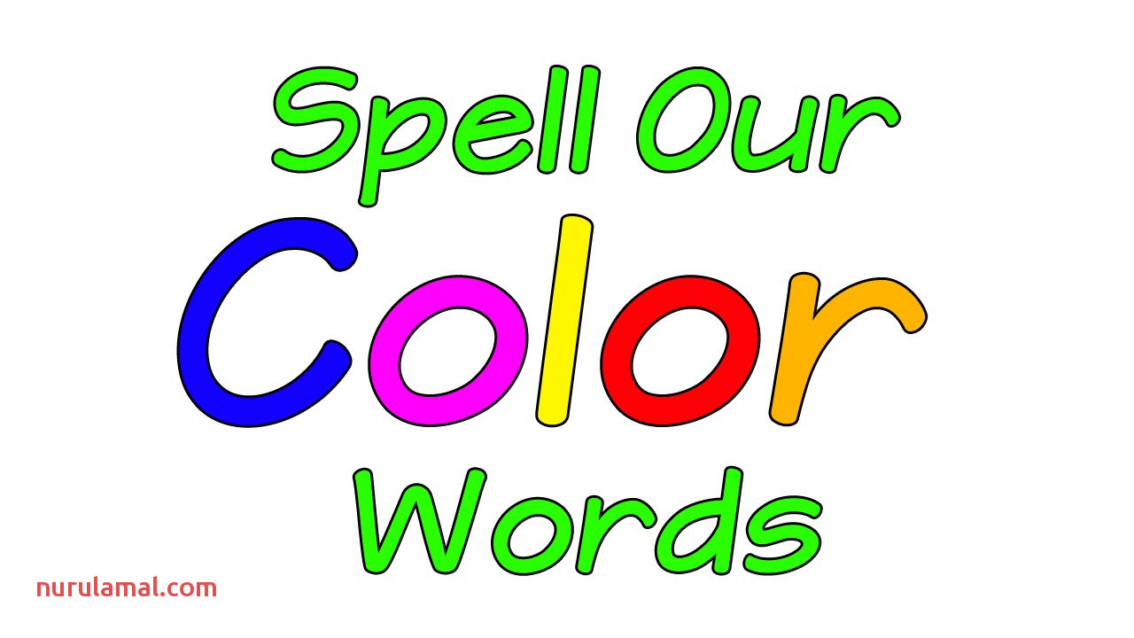 Learn the Colors Spell Our Color Words Colors song Colors