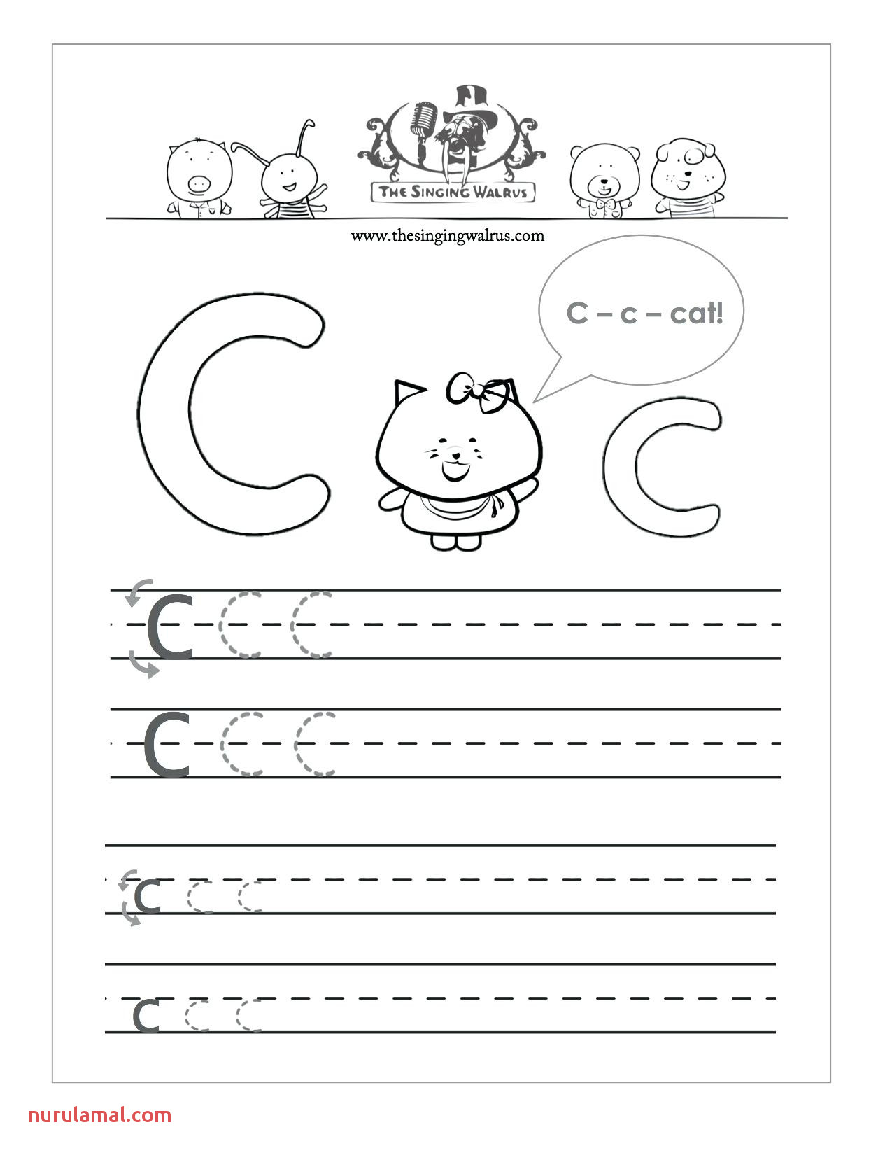 letter c worksheets to learning 2