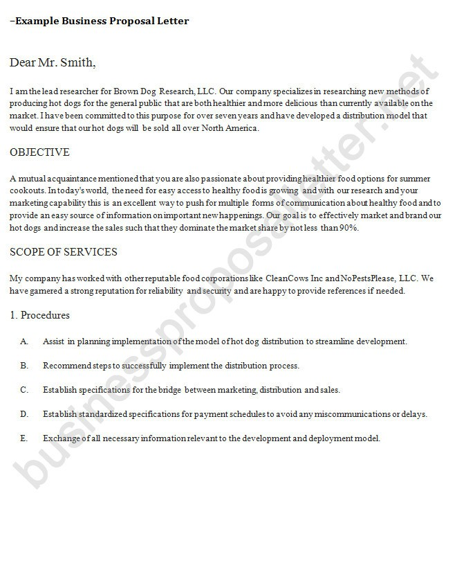 Letter Of Cooperation Proposal Writing Business Proposal