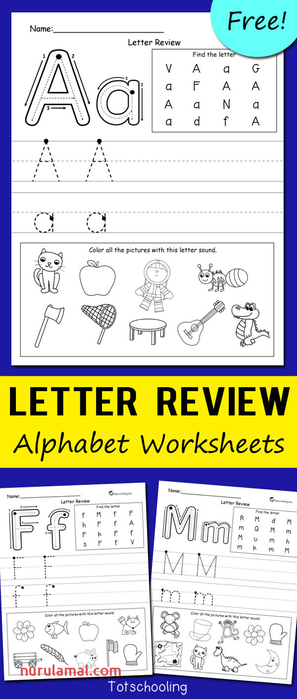 Letter Review Alphabet Worksheets