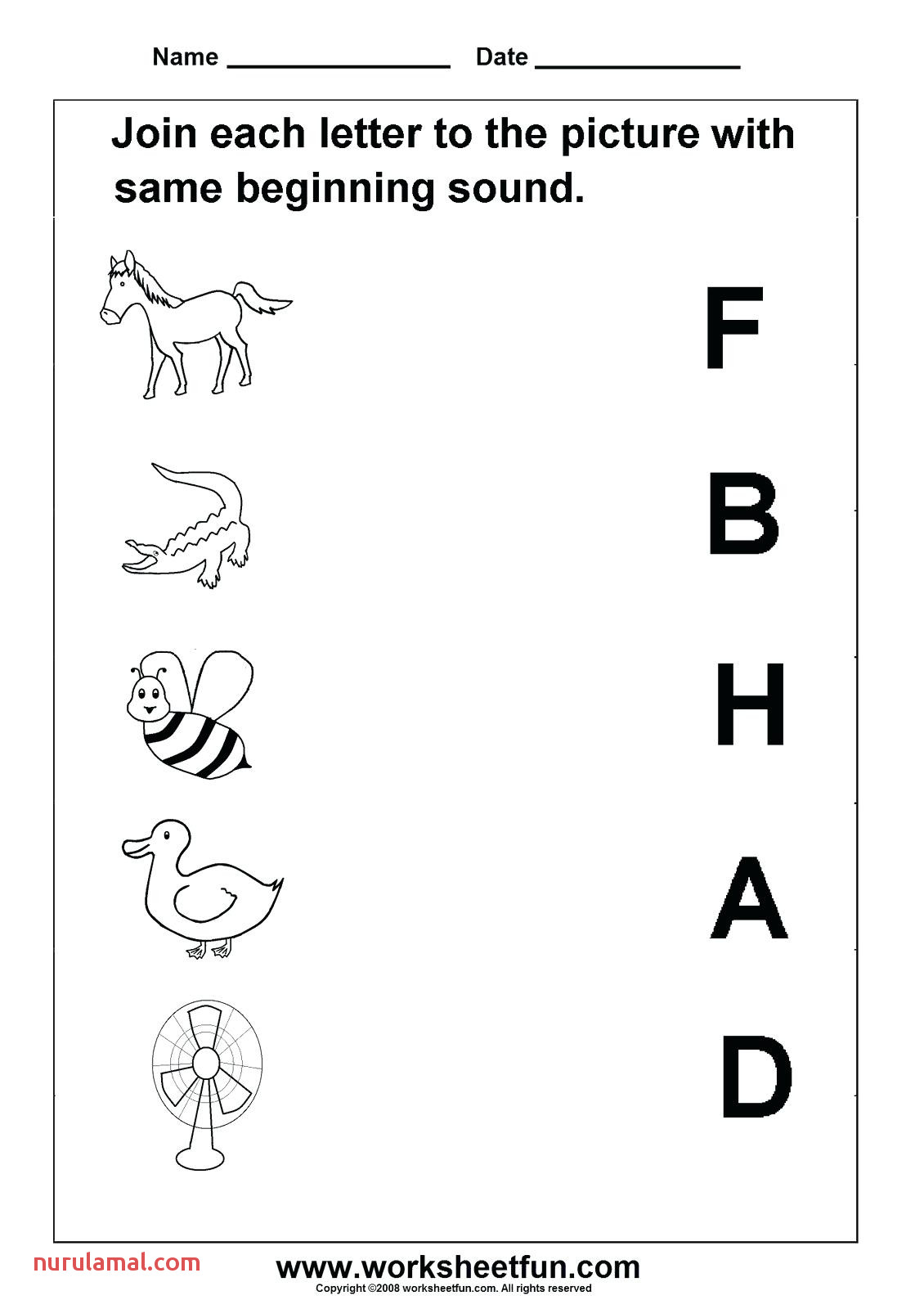 Letter sound Worksheets for Print Letter sound Worksheets