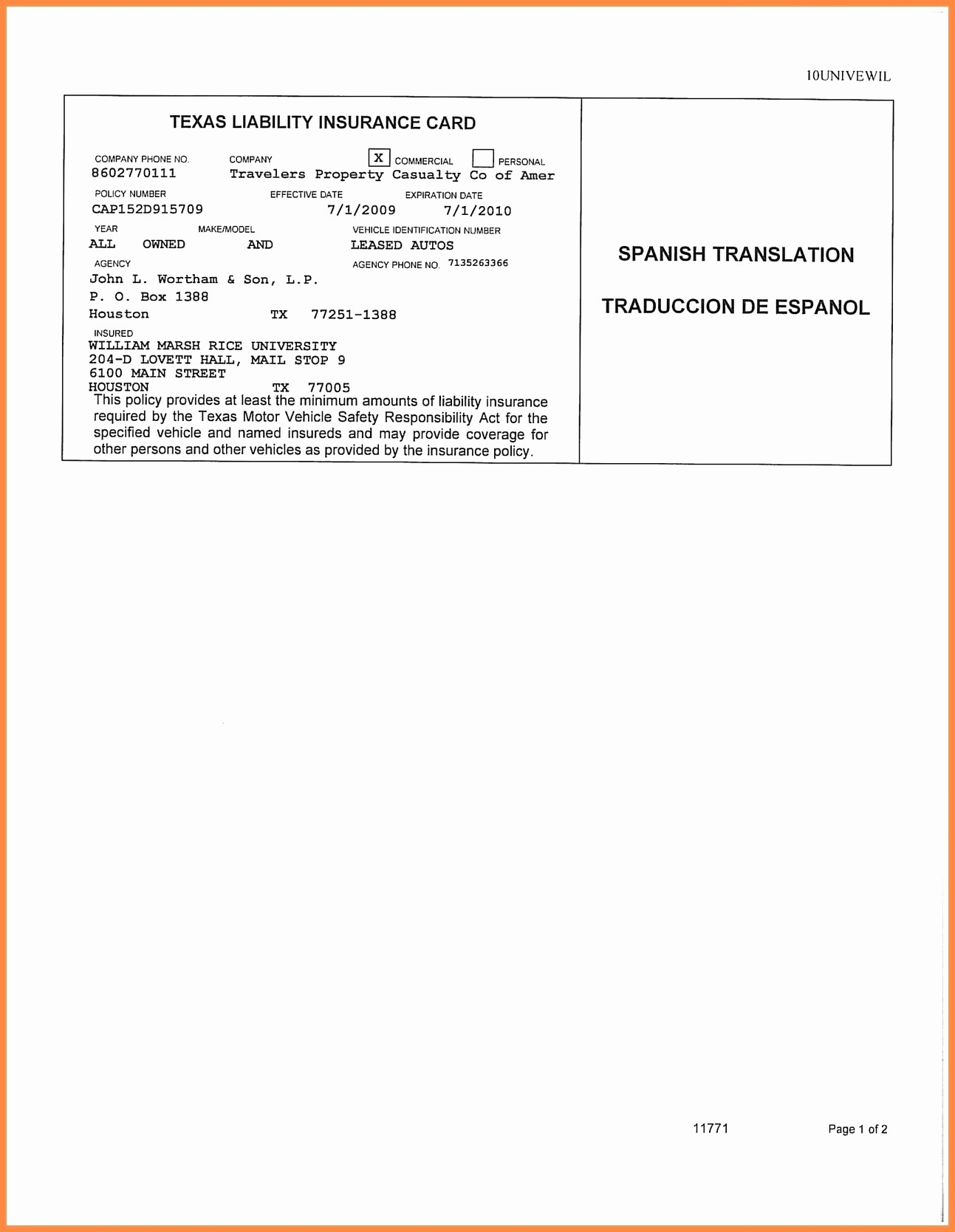 Letter Template. Proof Of Auto Insurance Template Free