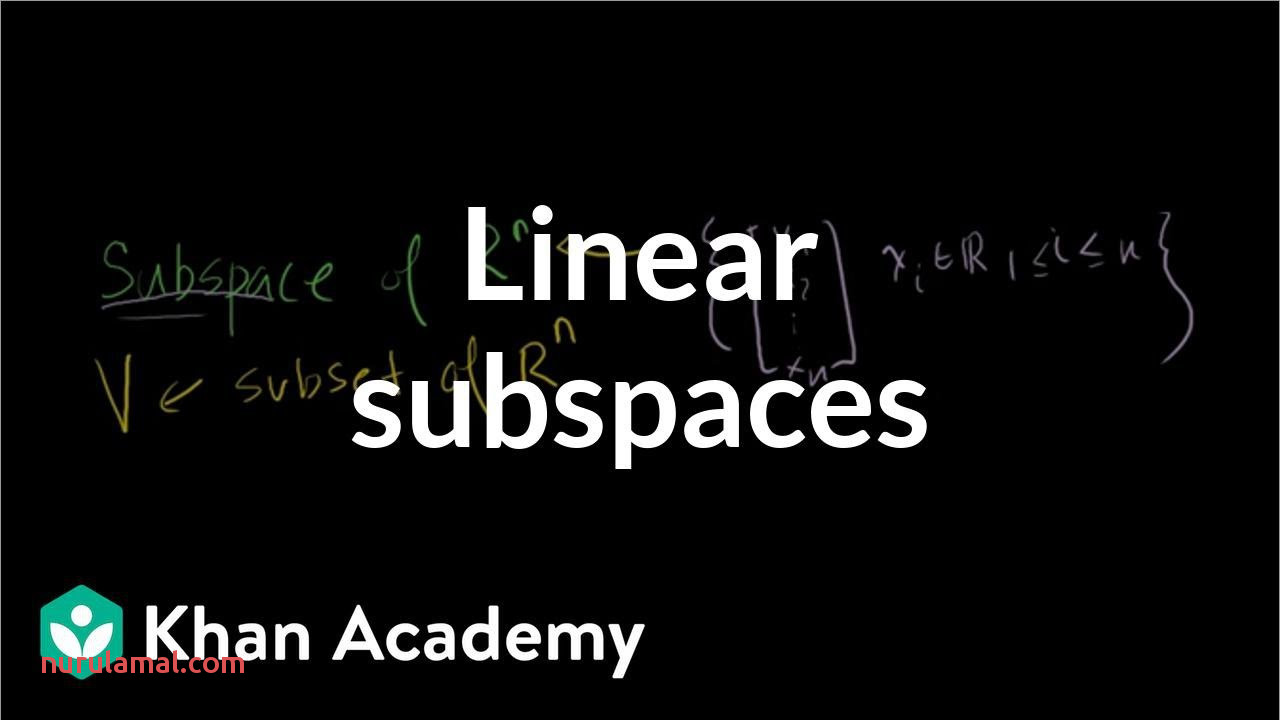 Linear Subspaces Video