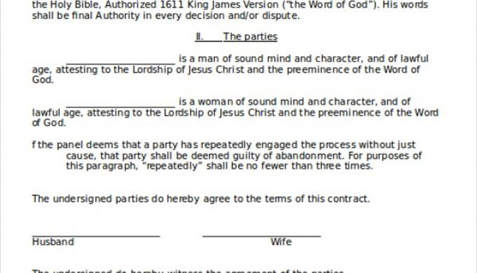 26+ Marriage Contract Template