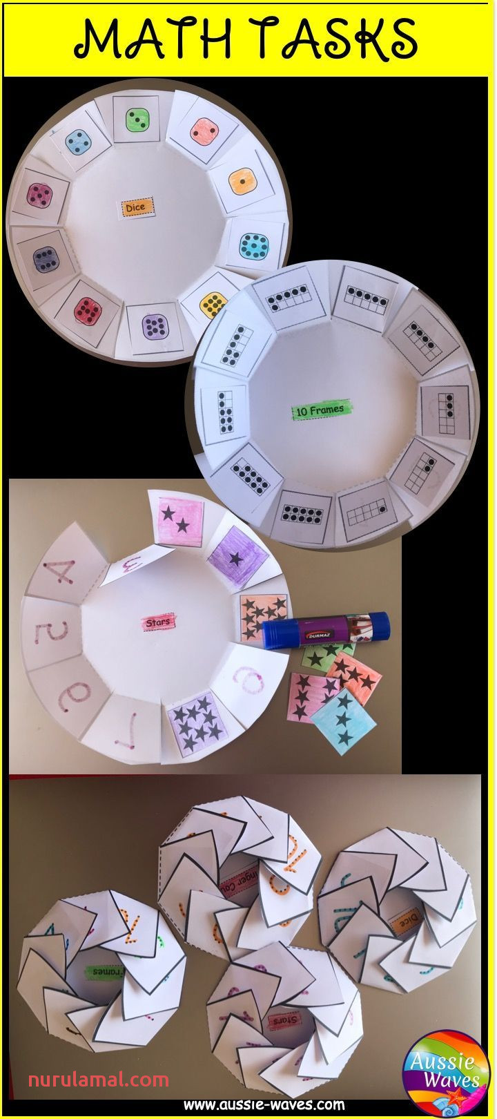 Math Counting Number Activities 0 10 Foldable Worksheets
