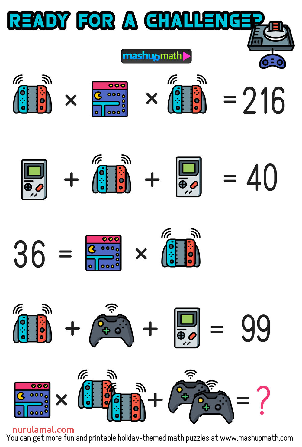 Math Video Games Puzzles for Grades 1 6 are Your Kids Ready