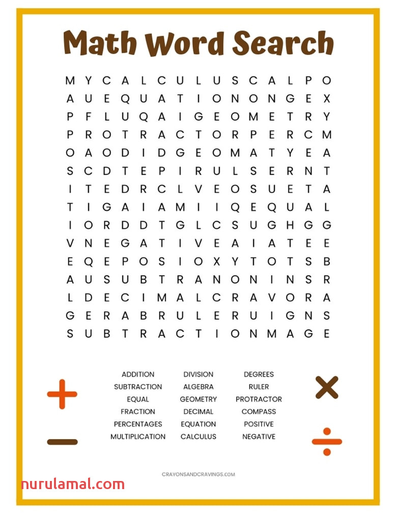 Math Word Search Free Printable